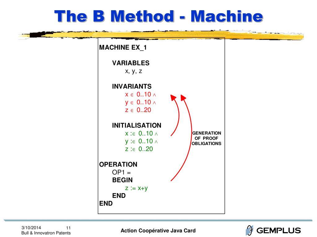The B Method - Machine