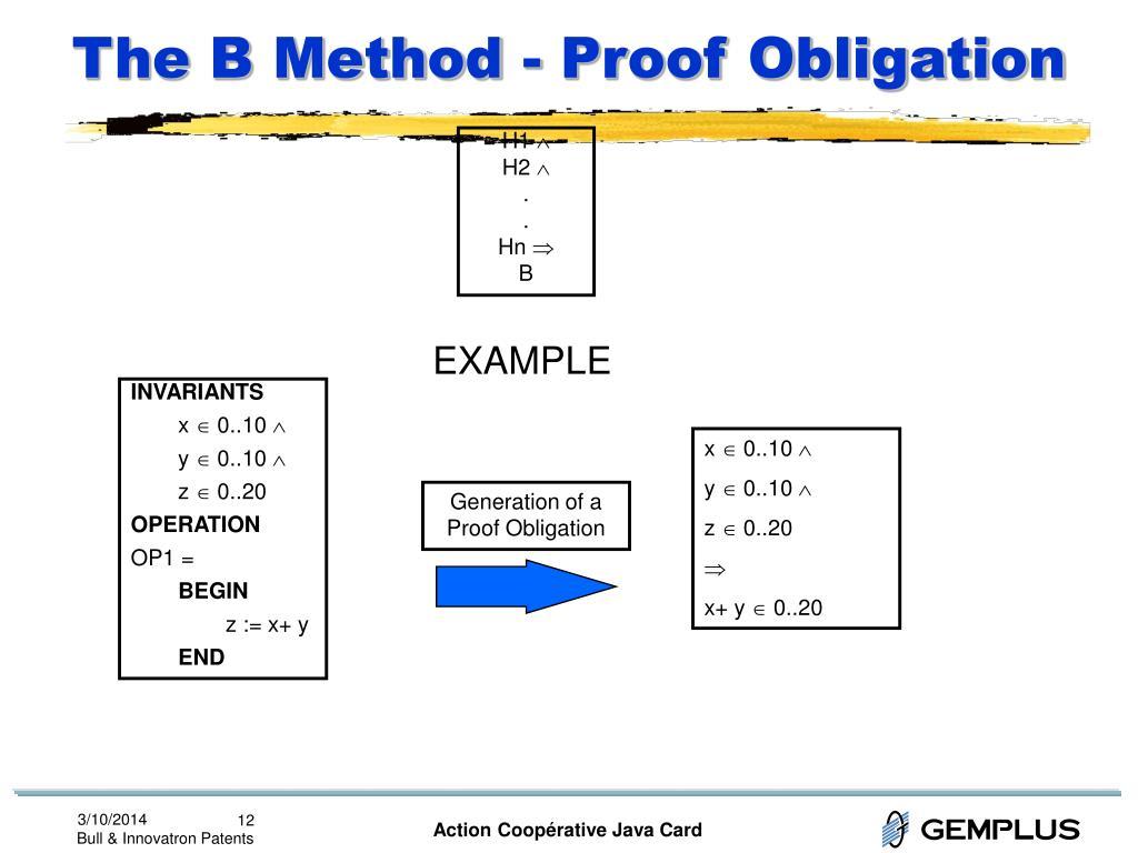 The B Method - Proof Obligation
