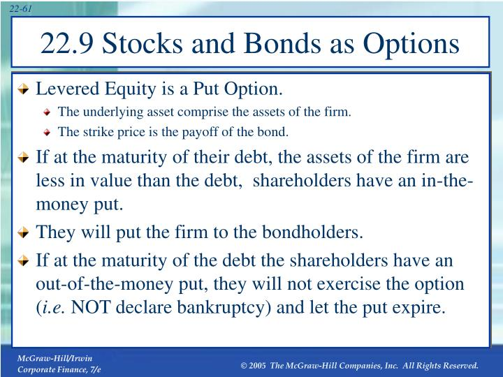 Levered Equity is a Put Option.