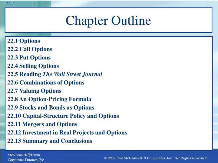 22.1 Options