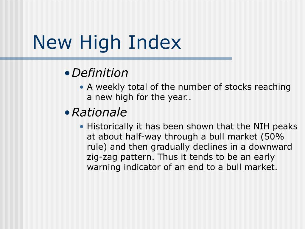 New High Index