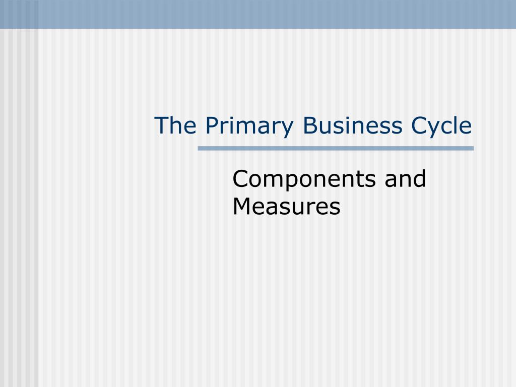 The Primary Business Cycle