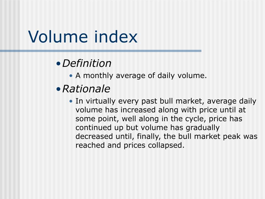 Volume index
