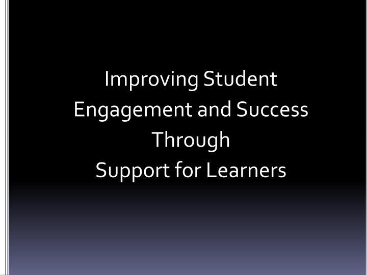 Improving Student