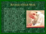 records of irish myth
