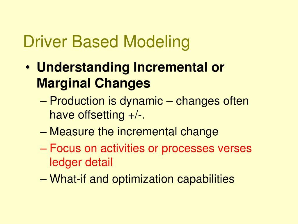 Driver Based Modeling