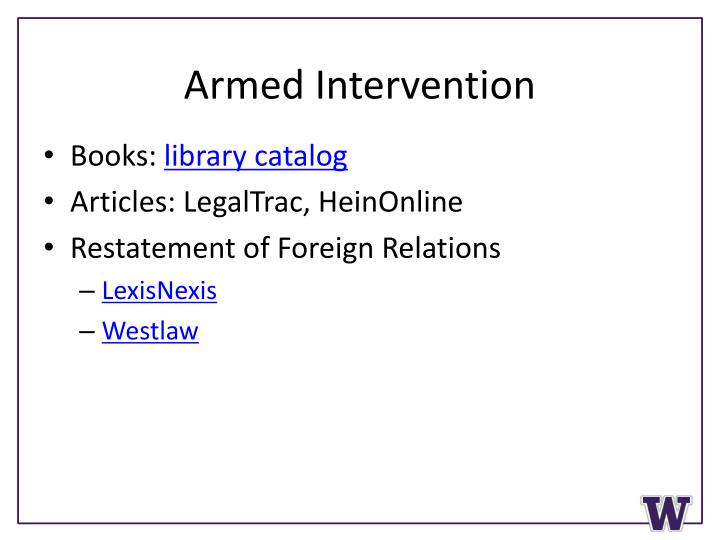 Armed Intervention