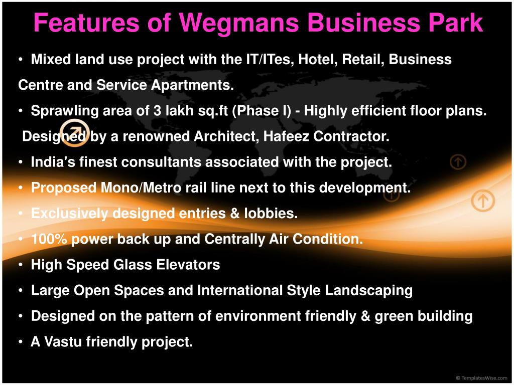Features of Wegmans Business Park