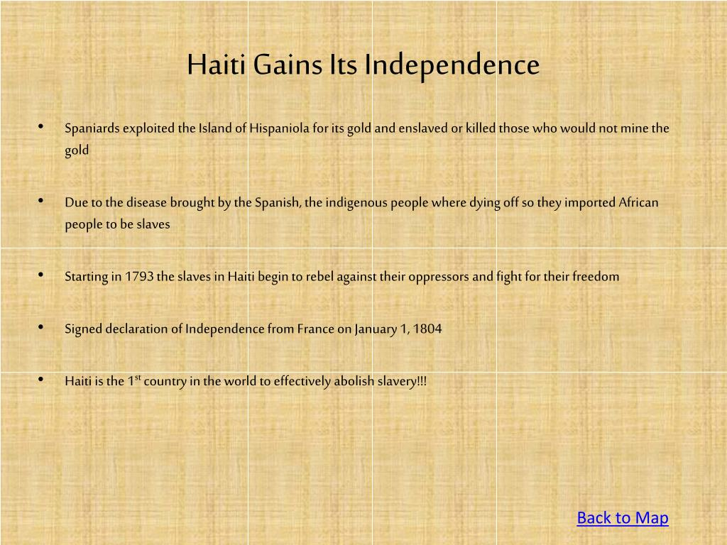 Haiti Gains Its Independence
