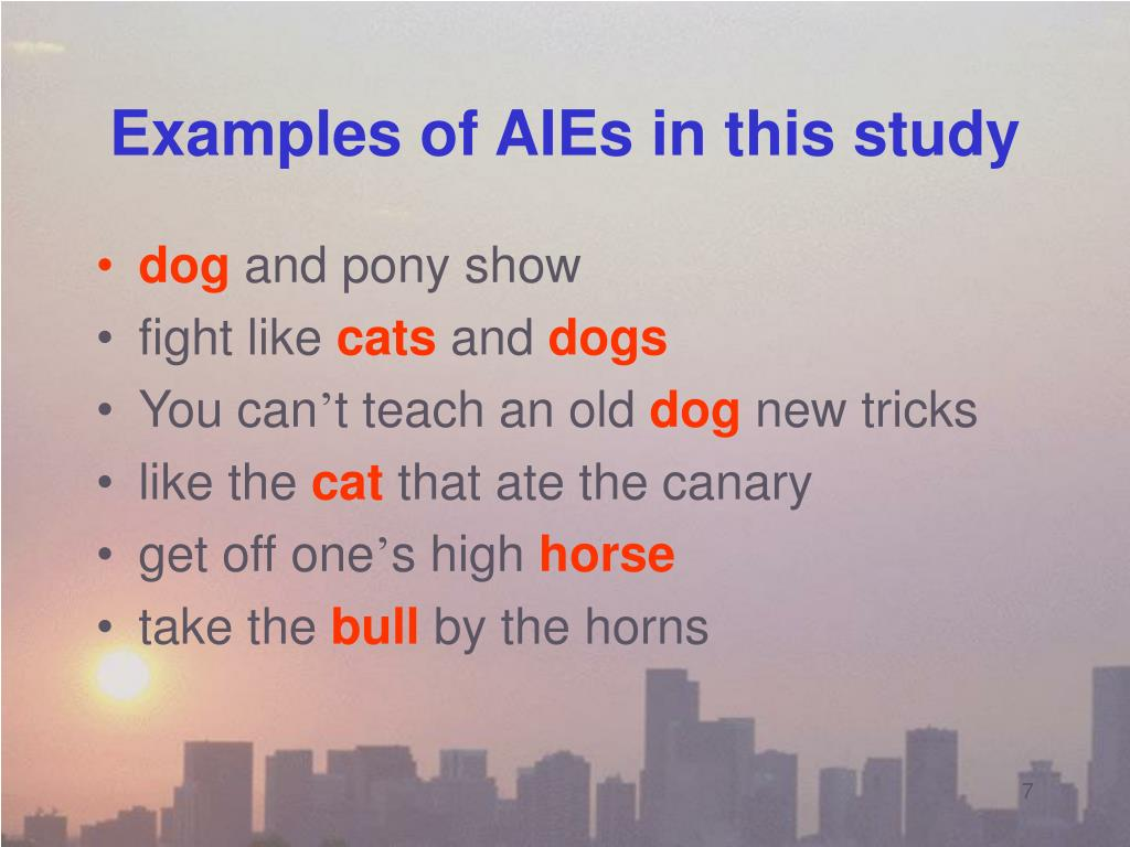 Examples of AIEs in this study