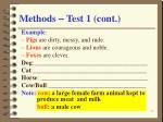 methods test 1 cont