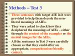 methods test 3