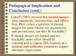 pedagogical implication and conclusion cont32