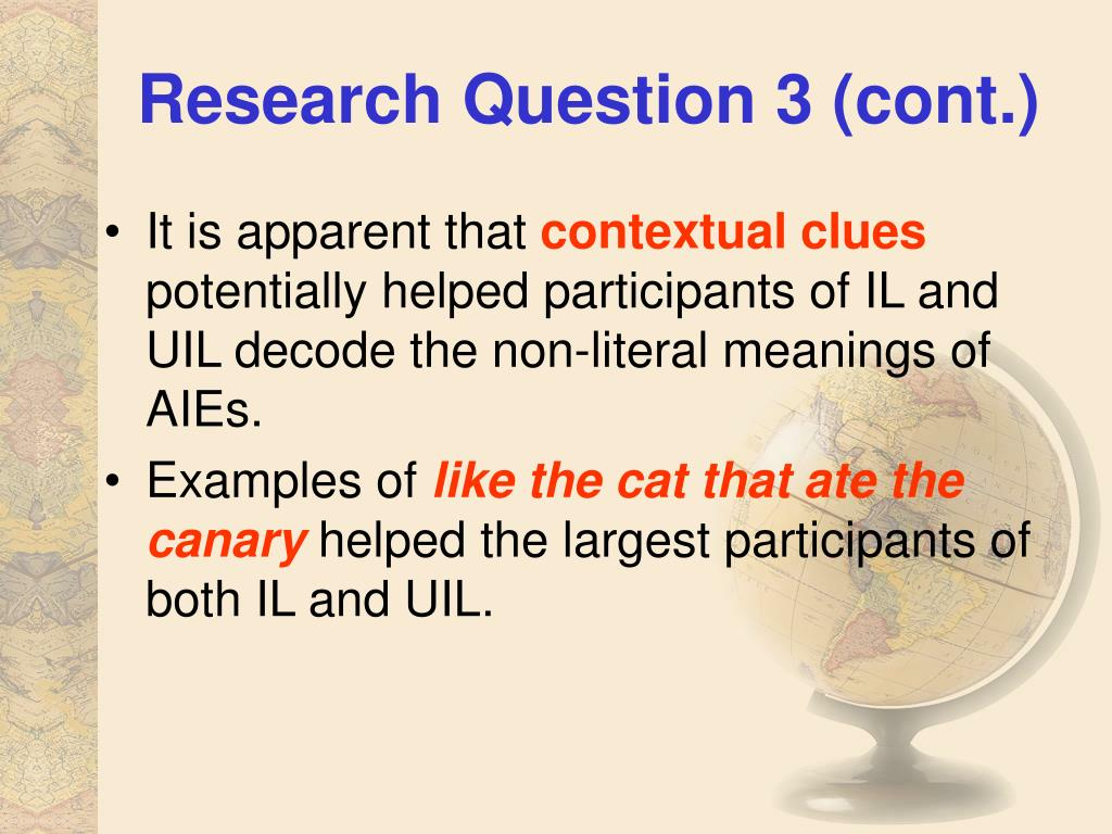 Research Question 3 (cont.)