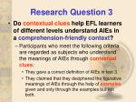 research question 3