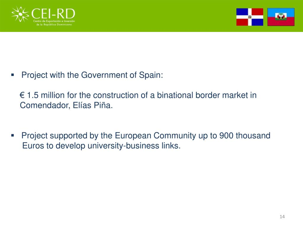 Project with the Government of Spain:
