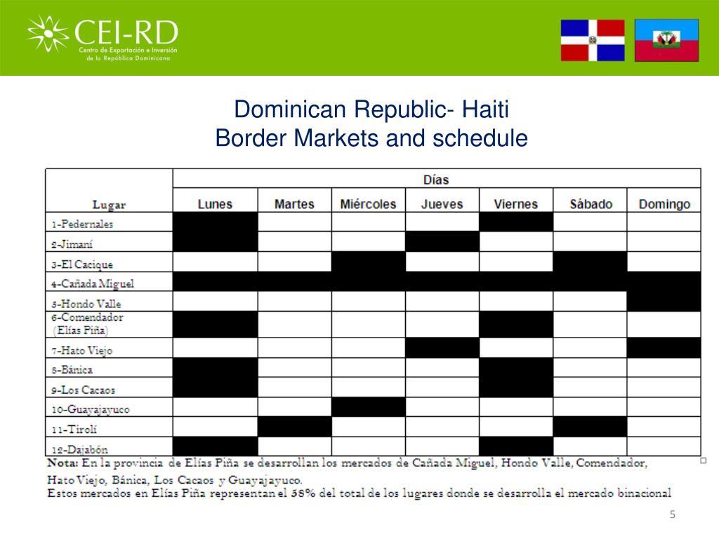 Dominican Republic- Haiti