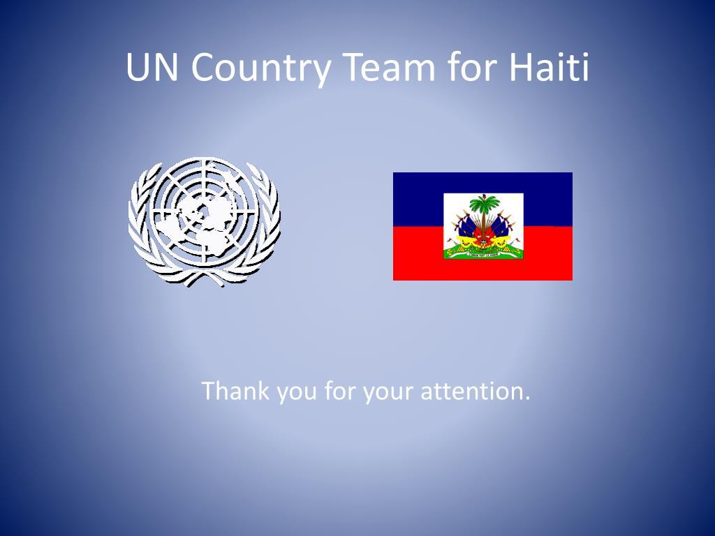 UN Country Team for Haiti