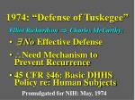 1974 defense of tuskegee