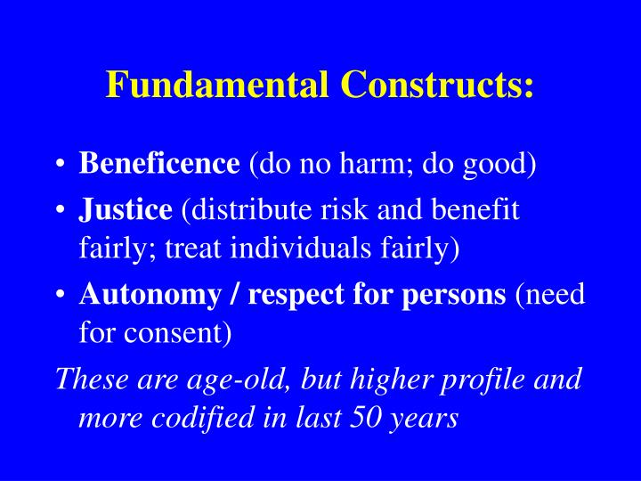 Fundamental Constructs: