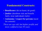 fundamental constructs