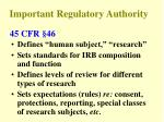 important regulatory authority2