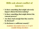 irbs ask about conflict of interest2