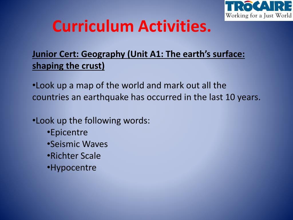 Curriculum Activities.