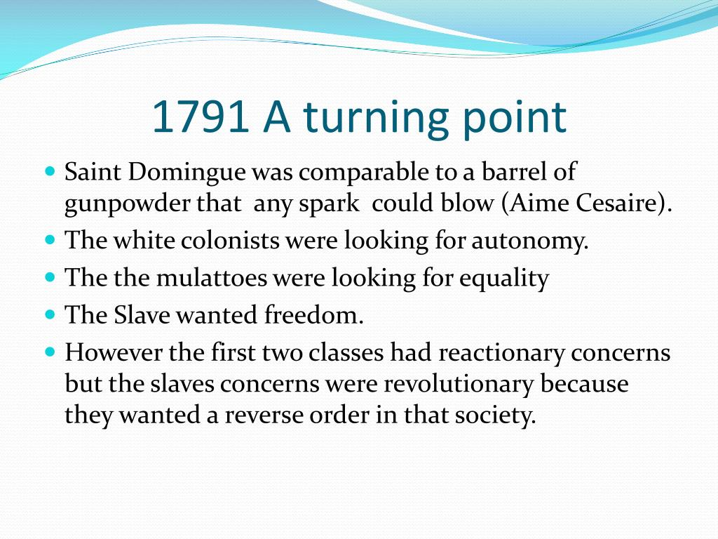 1791 A turning point