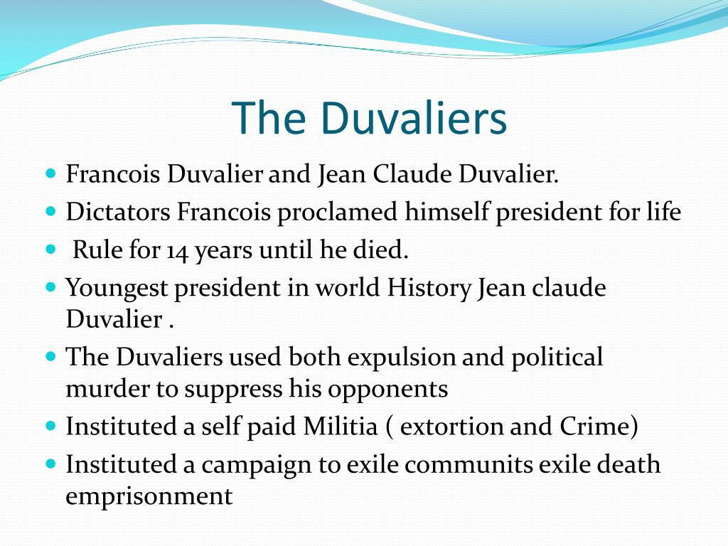The Duvaliers