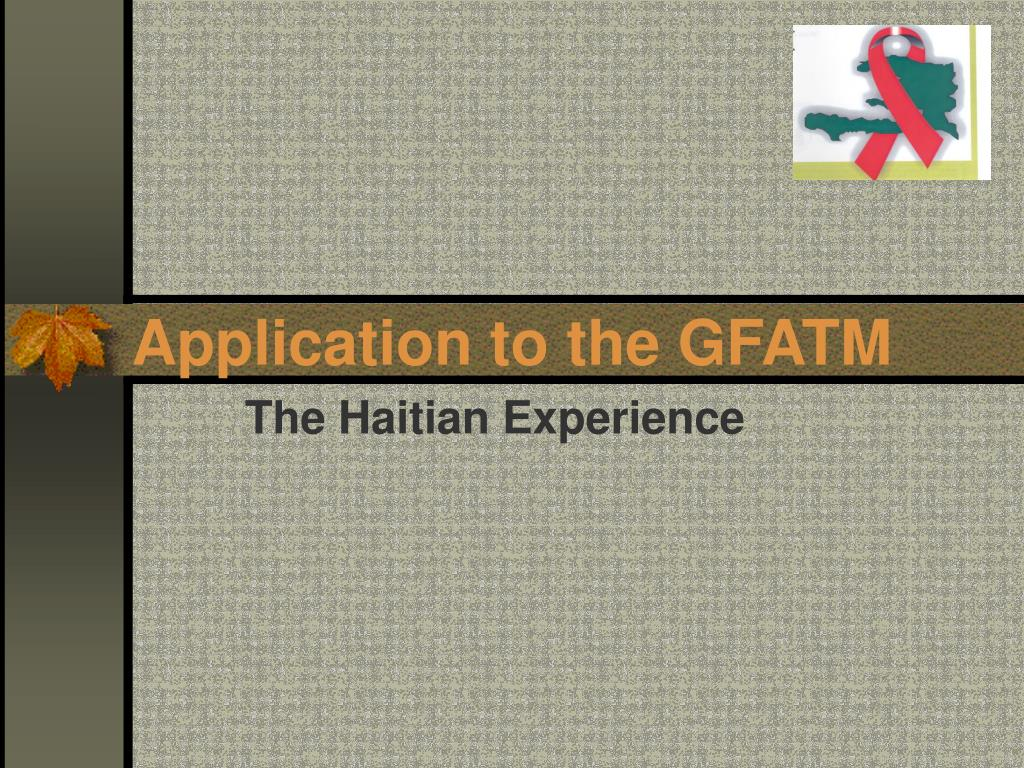 Application to the GFATM