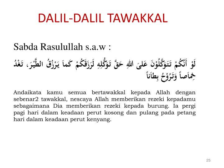 DALIL-DALIL TAWAKKAL