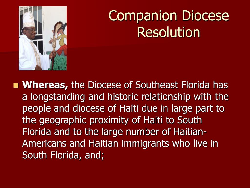 Companion Diocese Resolution