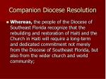 companion diocese resolution12