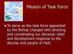 mission of task force