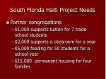 south florida haiti project needs
