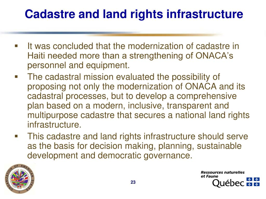 Cadastre and land rights infrastructure