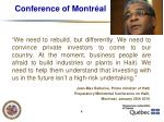 conference of montr al