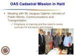 oas cadastral mission in haiti21