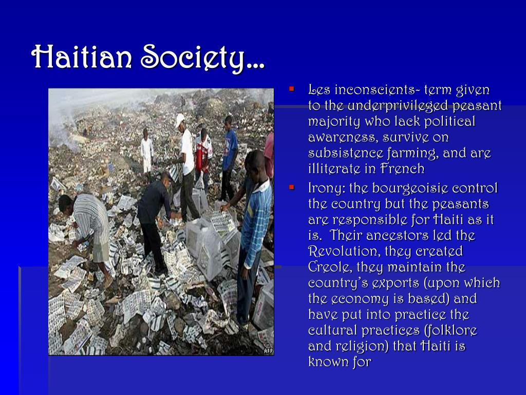 Haitian Society…