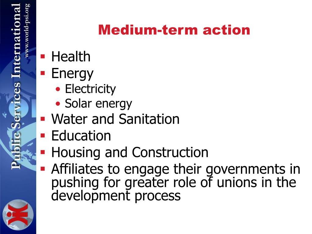 Medium-term action