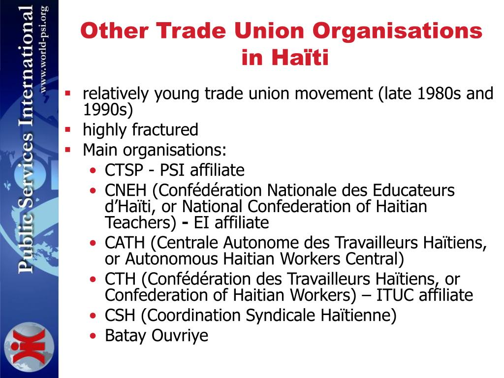 Other Trade Union Organisations