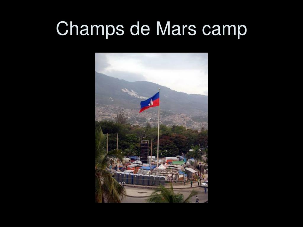 Champs de Mars camp