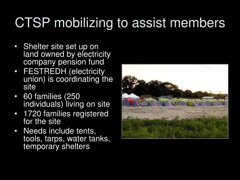 CTSP mobilizing to assist members