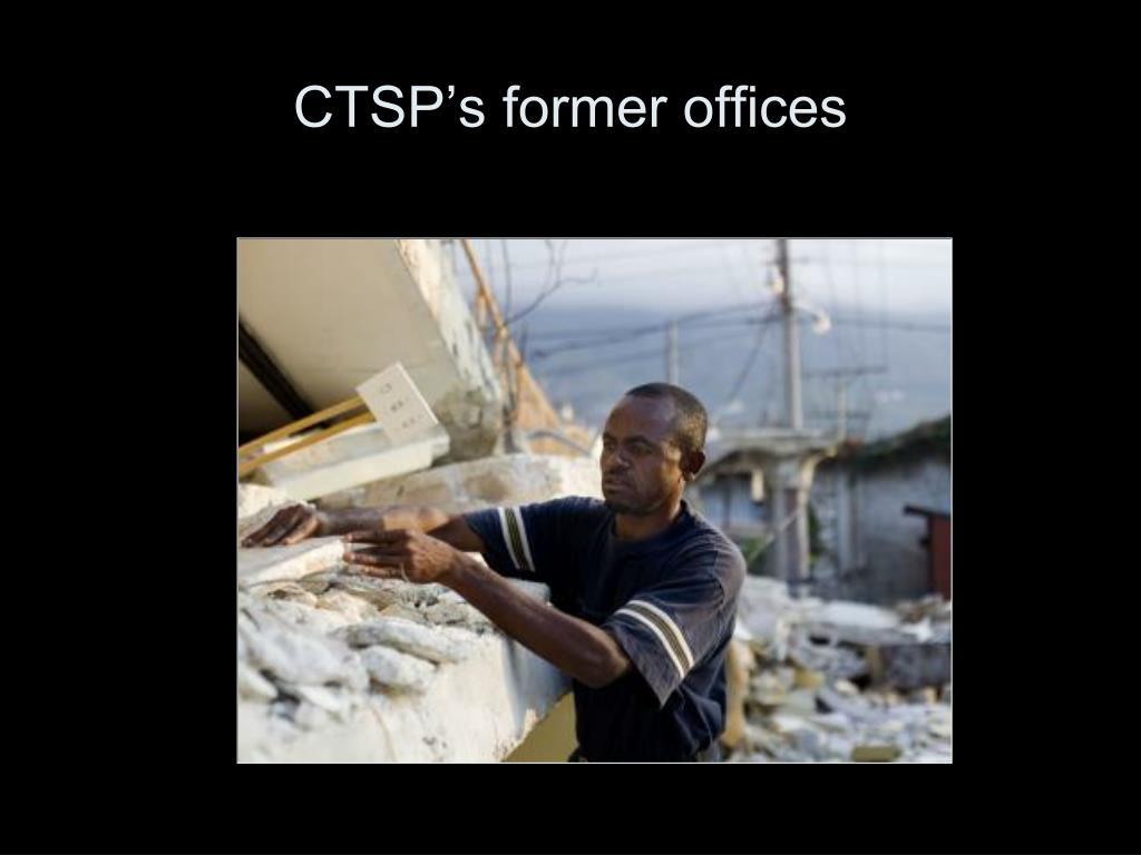 CTSP's former offices