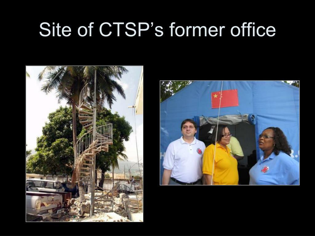 Site of CTSP's former office