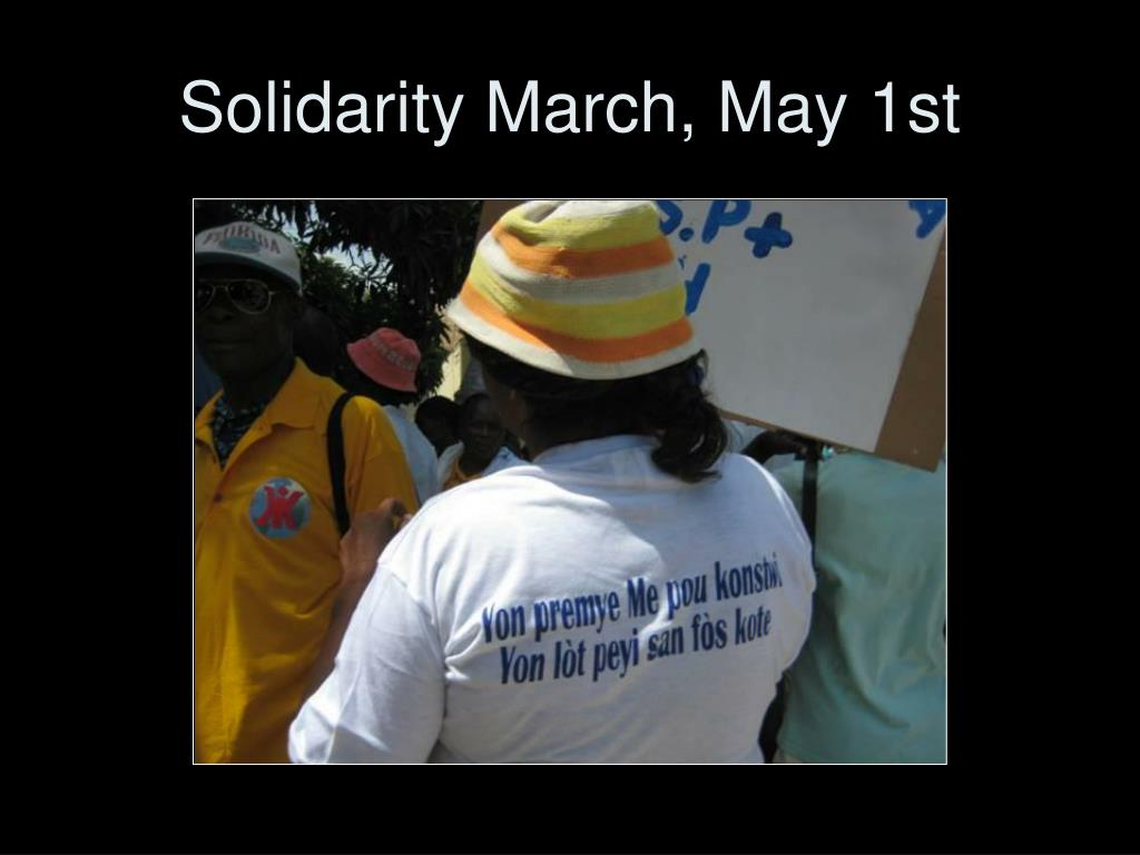 Solidarity March, May 1st
