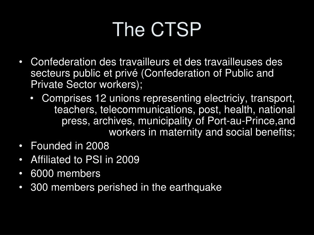 The CTSP
