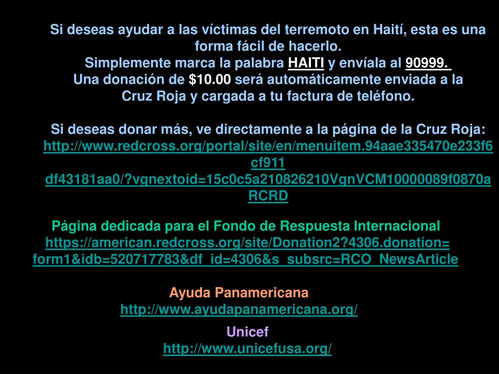 Si deseas ayudar a las víctimas del terremoto en Haití, esta es una forma fácil de hacerlo.