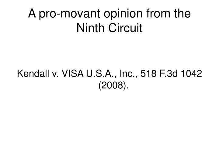 A pro-movant opinion from the Ninth Circuit